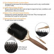 boar paddle hair brush
