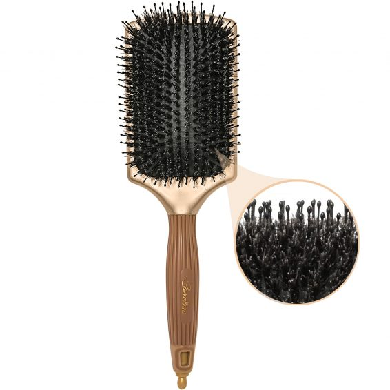 boar hair paddle brush