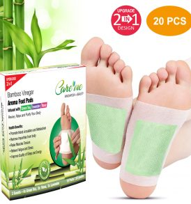 FDA Approved 2-in-1 Detox Foot Patches -20 pads in Green Tea, Rose, Lavender scents – for Body Cleansing, Remove Toxins, Improve Sleep, Relieve Stress & Wellness