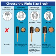 blowout brush wooden handle