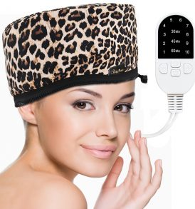 Corded Electric Heating Cap for a Deep Hair Conditioning | Get a Salon Hair Spa Treatment At Home for Dry, Frizzy, Damaged, Unruly Hair